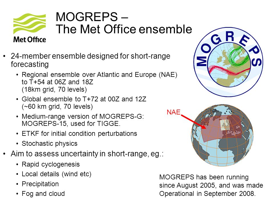 MOGREPS – The Met Office ensemble