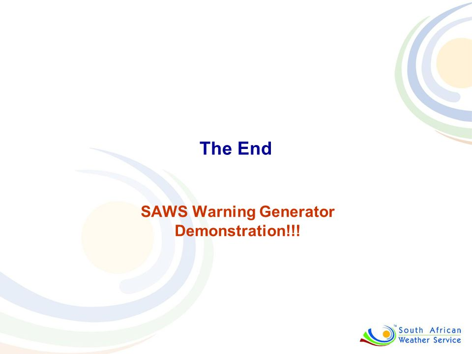 SAWS Warning Generator Demonstration!!!