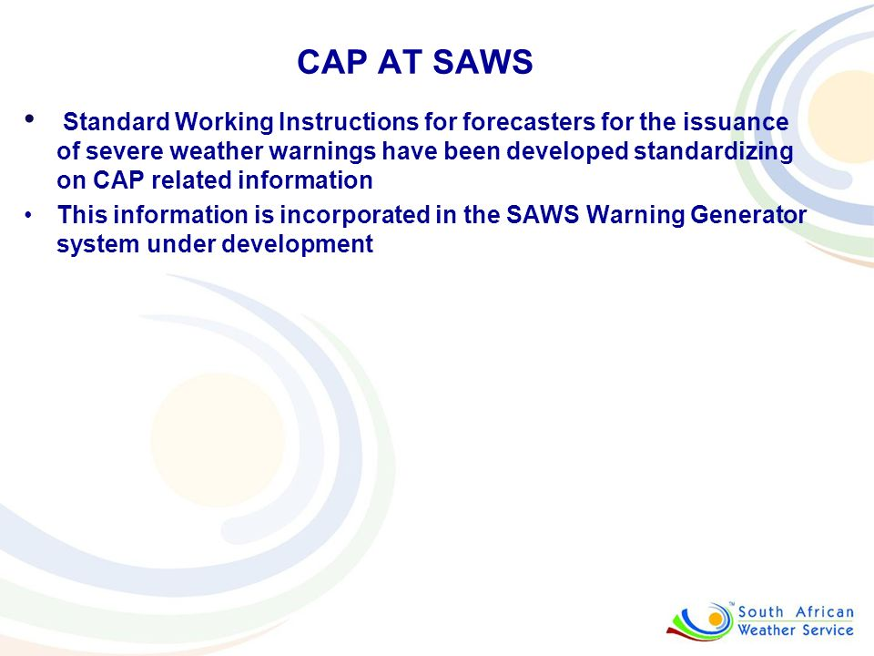CAP AT SAWS