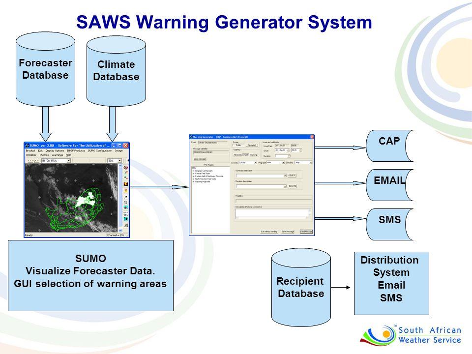 SAWS Warning Generator System