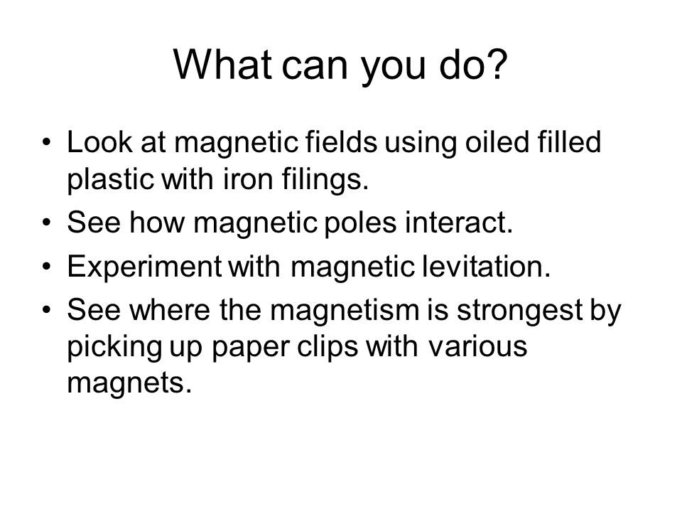 Thursday 3 25 ppt video online download - What you can do with magnets ...