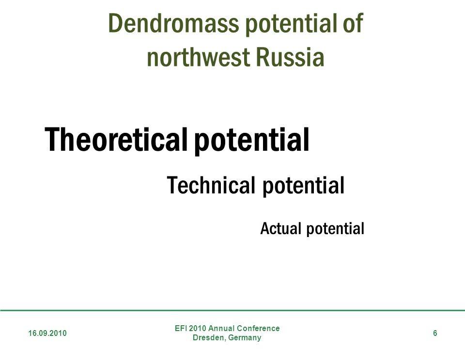 Dendromass potential of northwest Russia