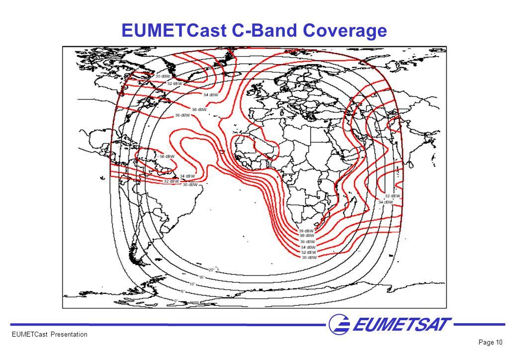 EUMETCast C-Band Coverage