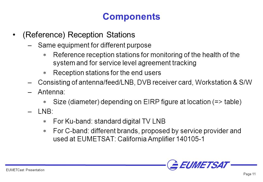 Components (Reference) Reception Stations