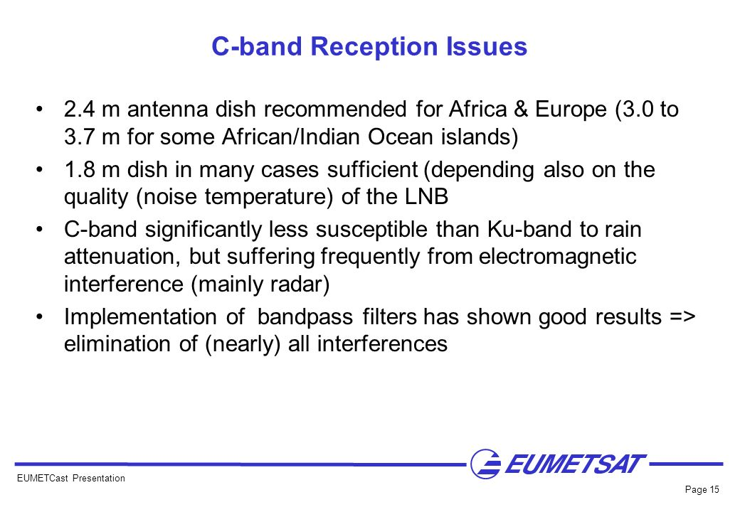 C-band Reception Issues