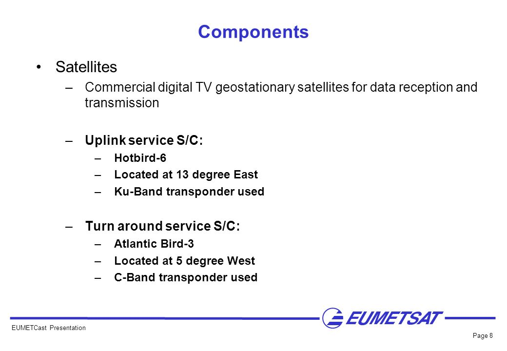 Components Satellites