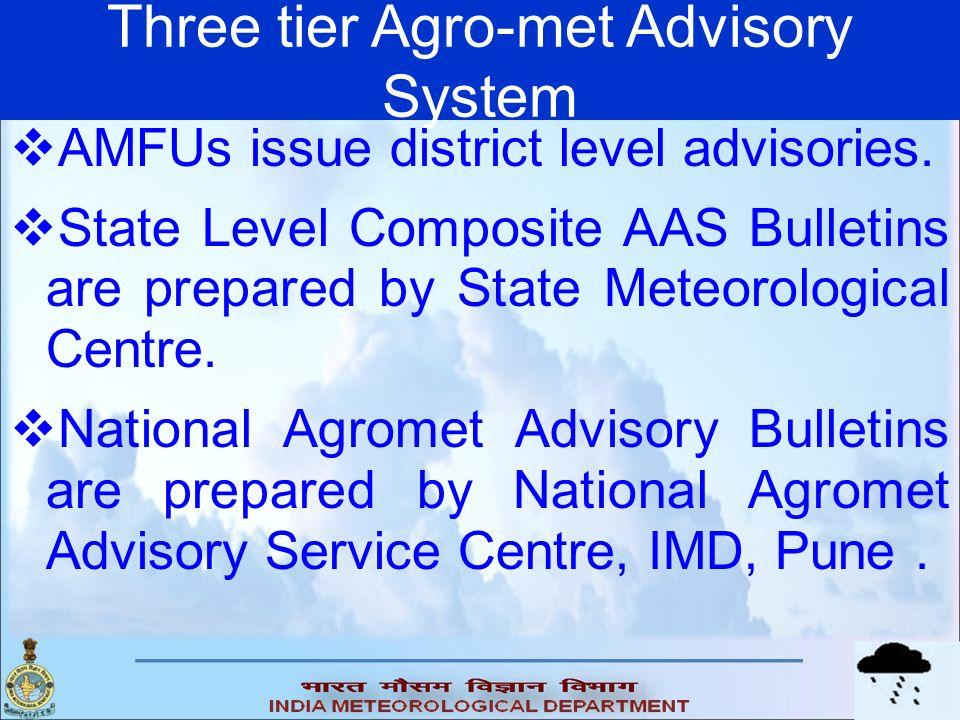 Three tier Agro-met Advisory System