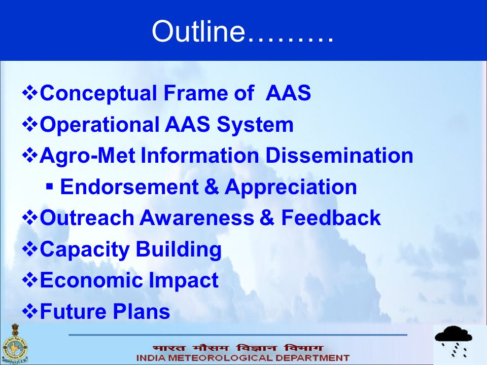 Outline……… Conceptual Frame of AAS Operational AAS System