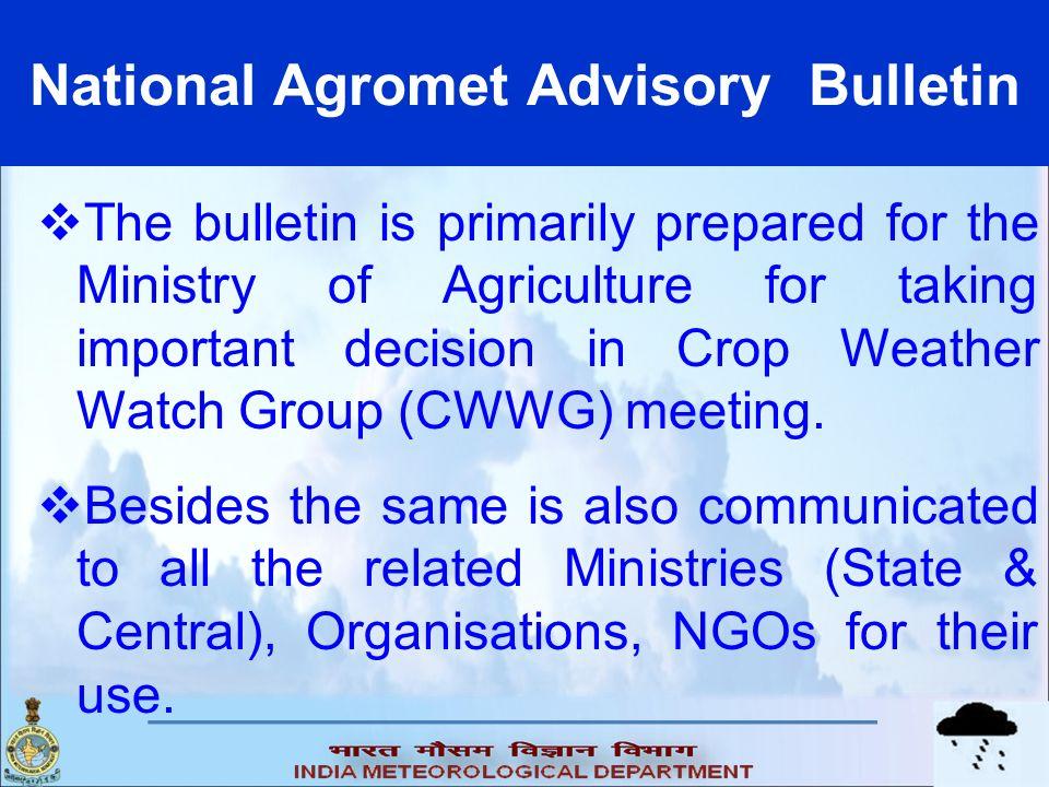 National Agromet Advisory Bulletin