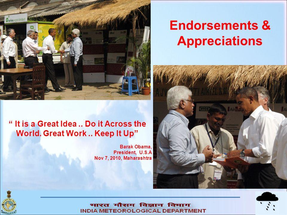 Endorsements & Appreciations