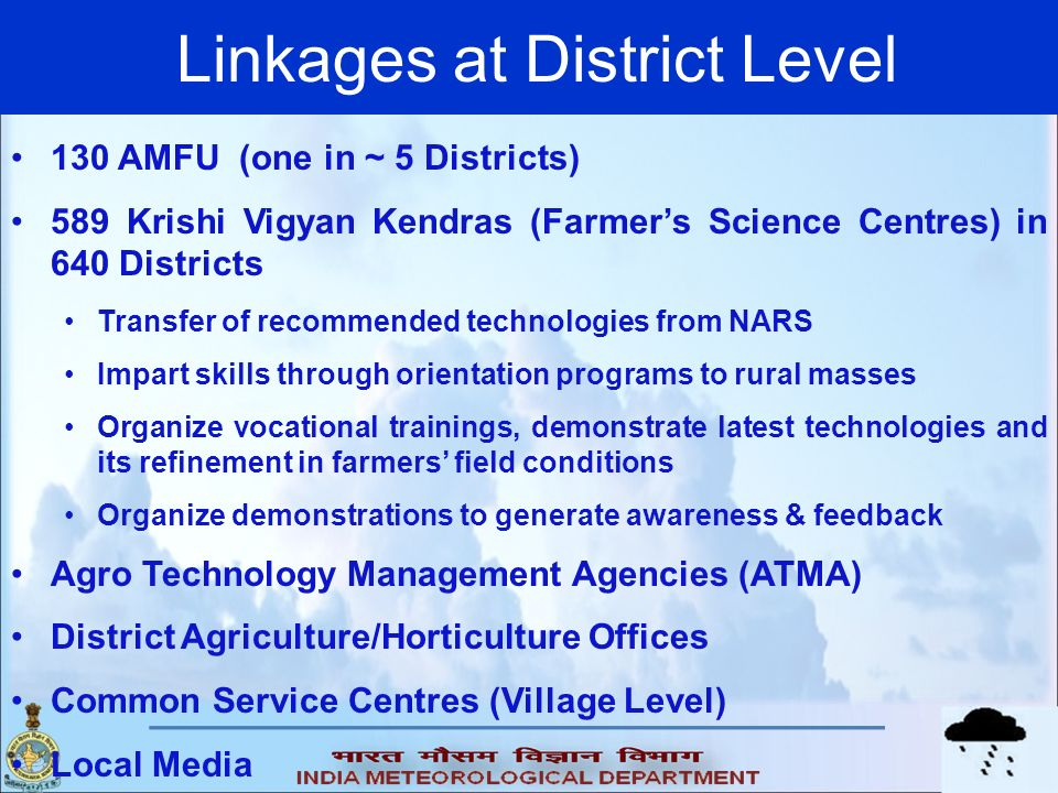 Linkages at District Level