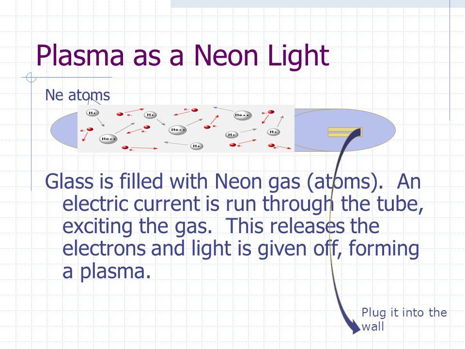 Plasma as a Neon Light Ne atoms.