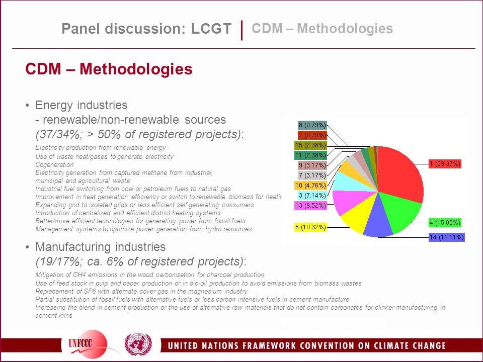 CDM – Methodologies Panel discussion: LCGT CDM – Methodologies