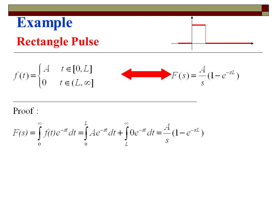 Example Rectangle Pulse
