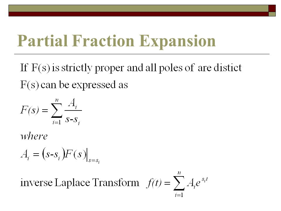 Partial Fraction Expansion