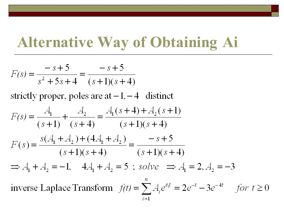 Alternative Way of Obtaining Ai