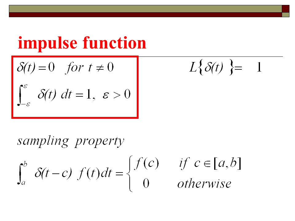 impulse function