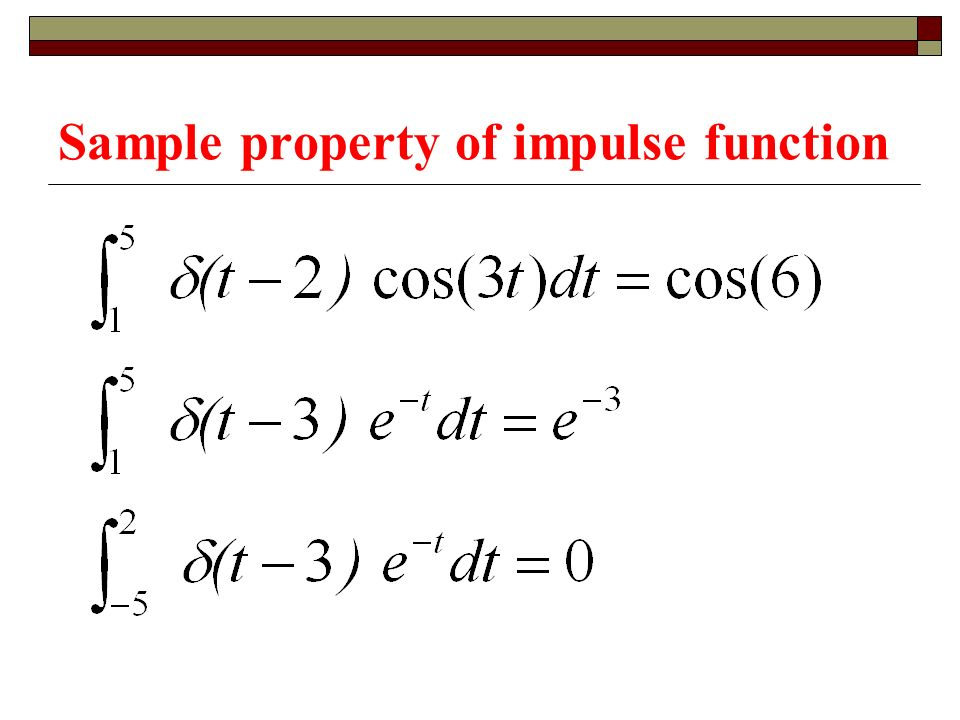 Sample property of impulse function