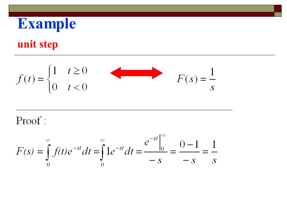 Example unit step