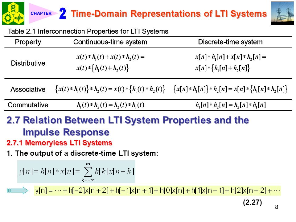 response of a ltic system time domain 2 time domain analysis of continuous time systems22 3 time domain analysis of discrete time systems38  exa 25 unit impulse response for an ltic system.