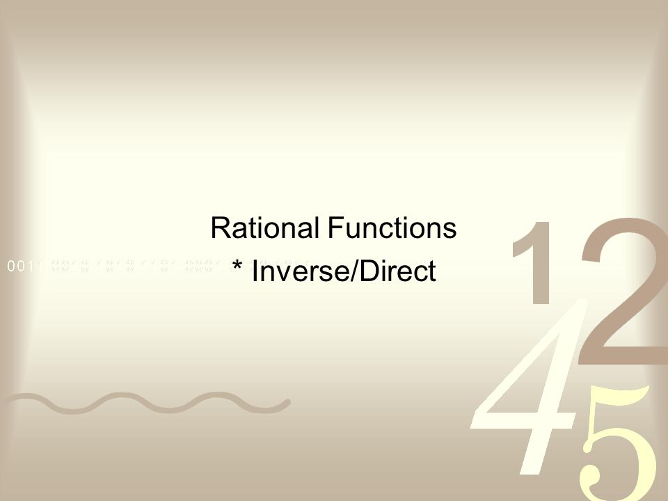how to find inverse of rational function