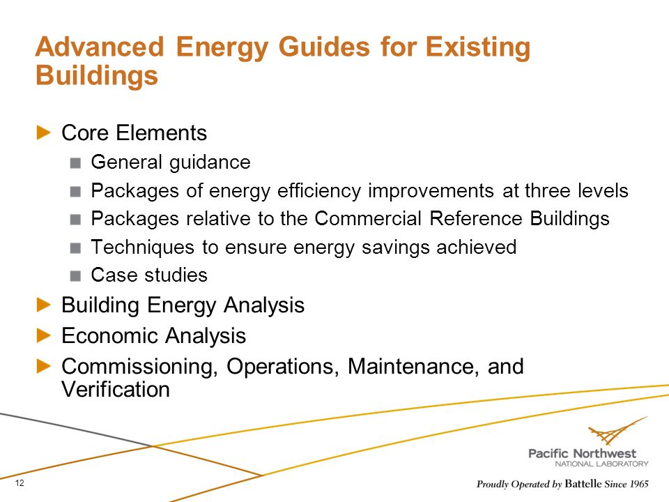Advanced Energy Guides for Existing Buildings