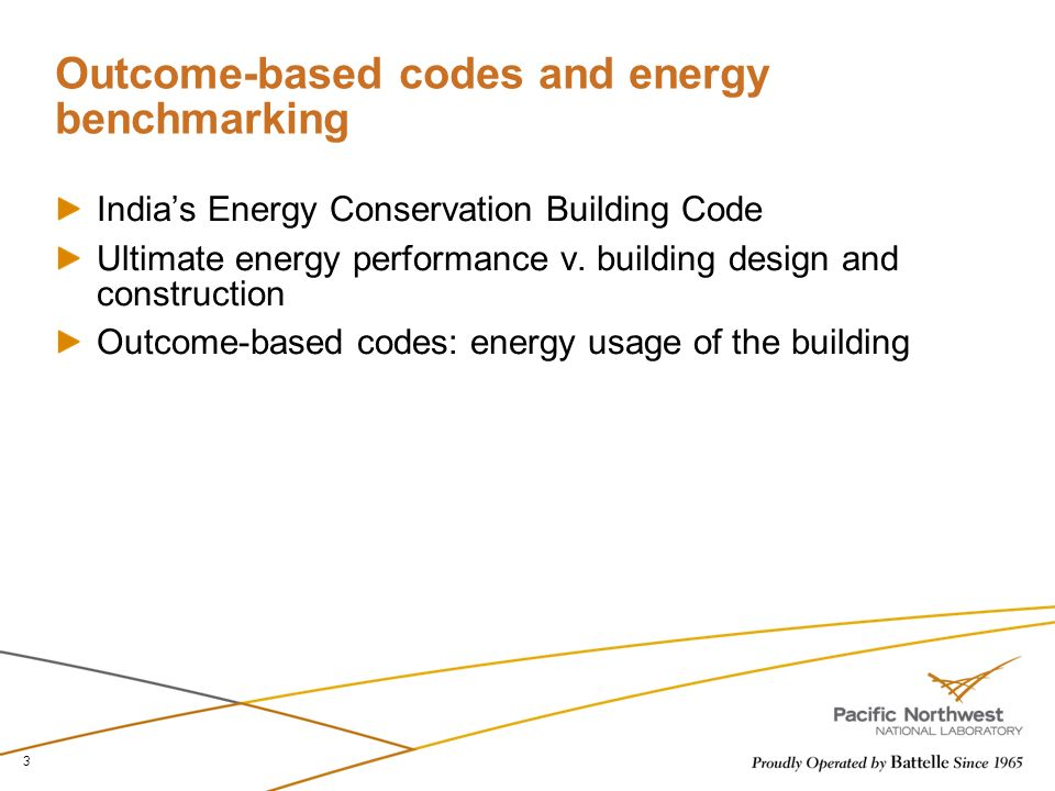 Outcome-based codes and energy benchmarking