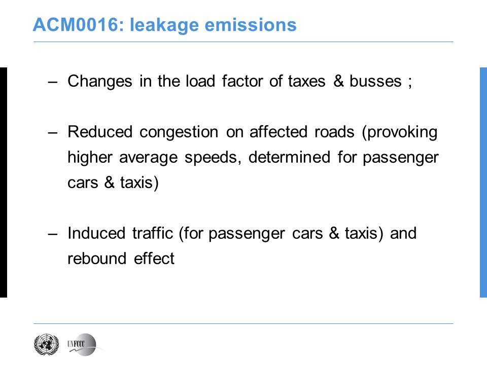 ACM0016: leakage emissions