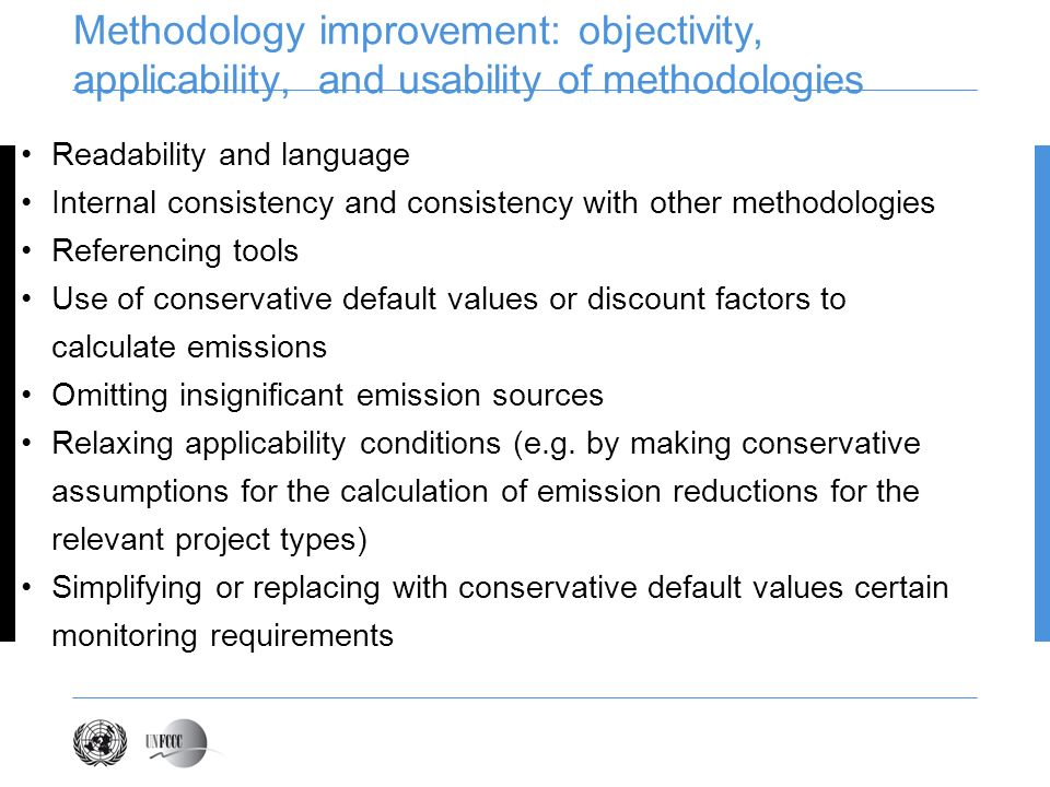 Methodology improvement: objectivity, applicability, and usability of methodologies