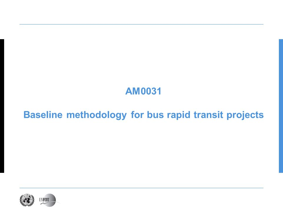 Baseline methodology for bus rapid transit projects