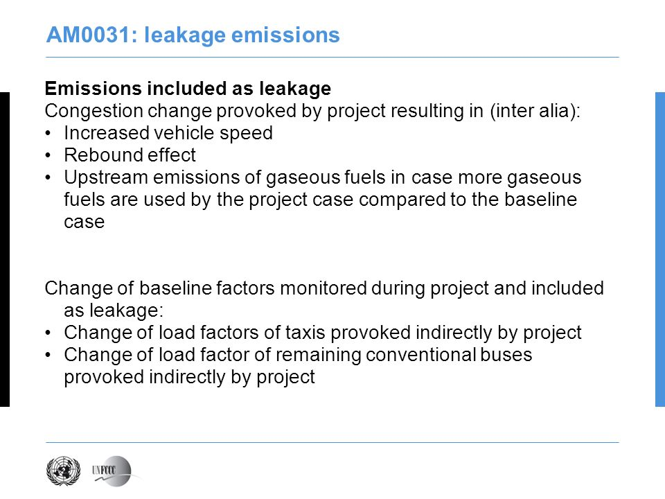 AM0031: leakage emissions Emissions included as leakage