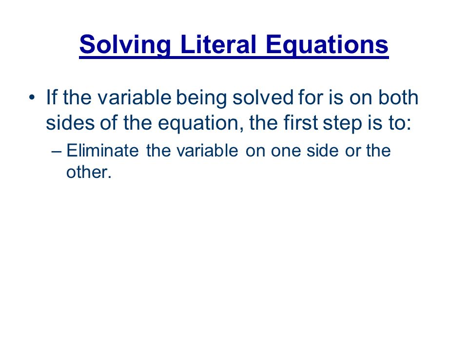 Literal equations worksheets pdf