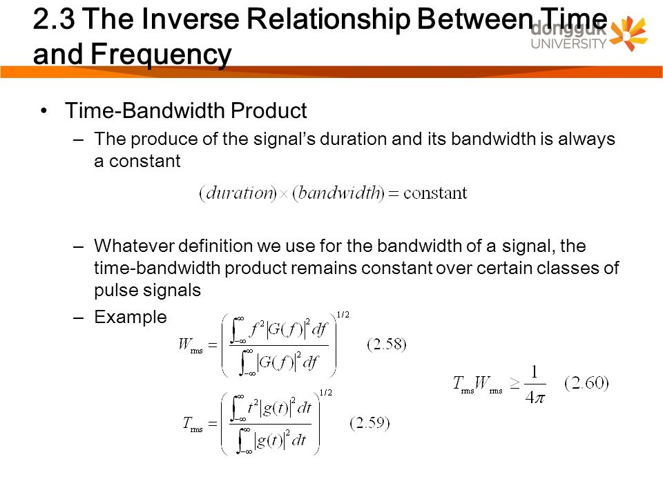 frequency time constant relationship definition