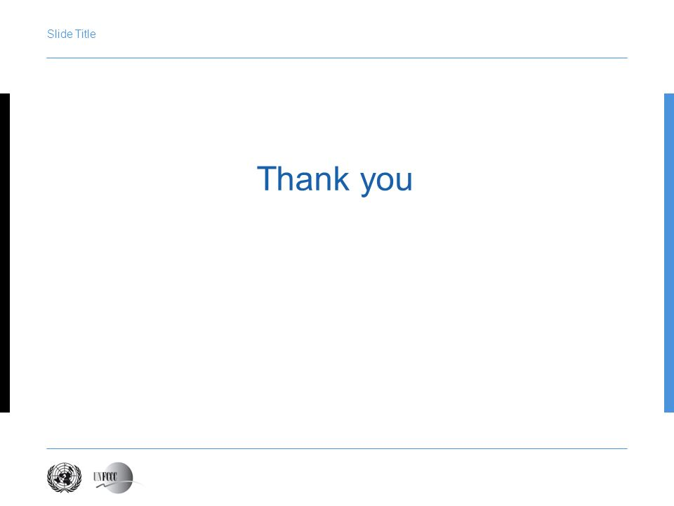 Presentation title Slide Title Thank you