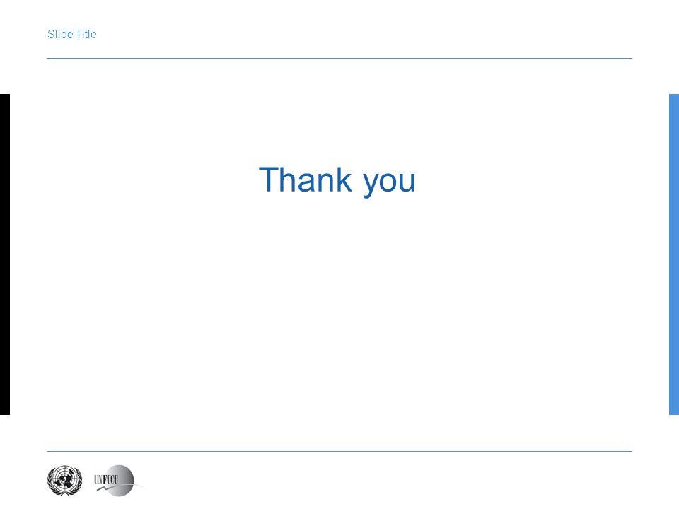 Presentation title Slide Title Thank you