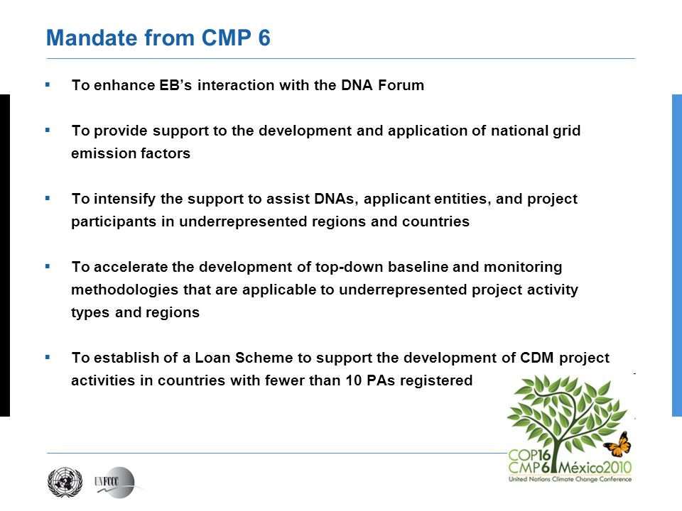 Mandate from CMP 6 To enhance EB's interaction with the DNA Forum