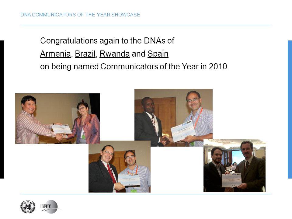 DNA COMMUNICATORS OF THE YEAR SHOWCASE