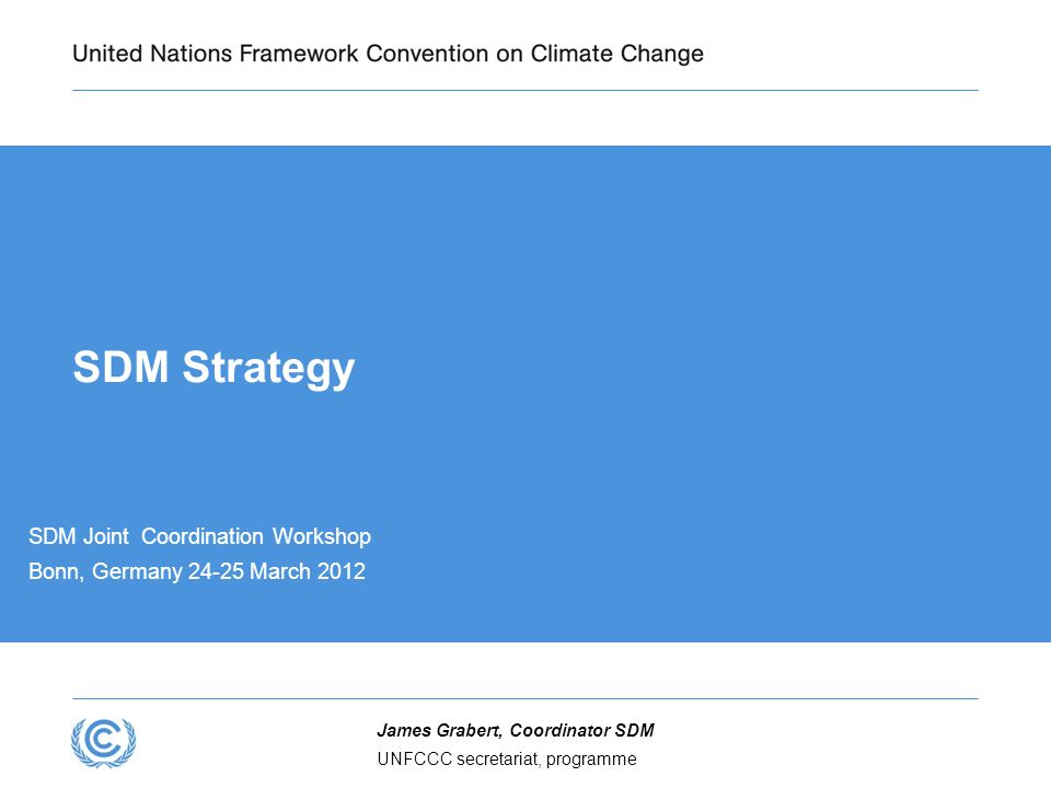 SDM Strategy SDM Joint Coordination Workshop