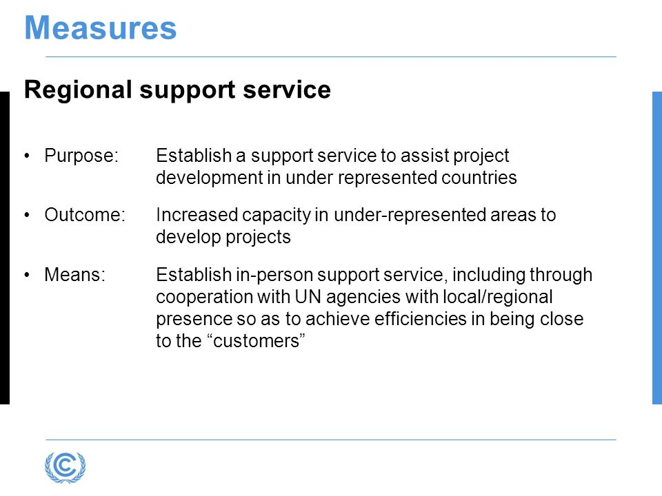 Measures Regional support service