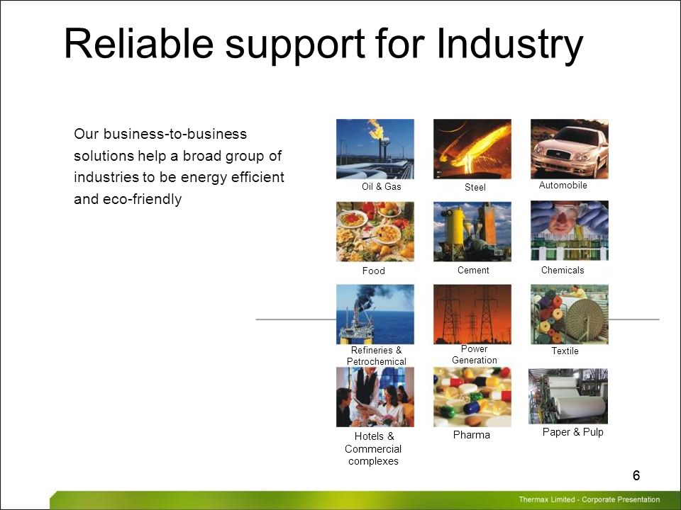 Reliable support for Industry