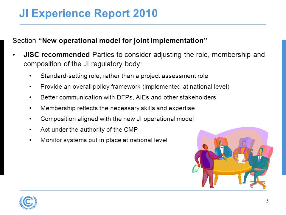 Presentation title JI Experience Report 2010. Section New operational model for joint implementation