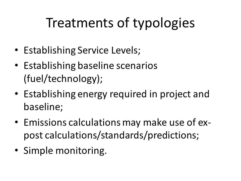 Treatments of typologies