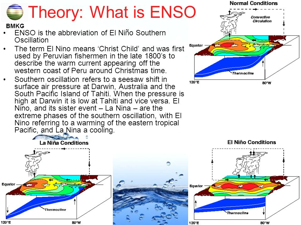 Theory: What is ENSO BMKG. ENSO is the abbreviation of El Niño Southern Oscillation.