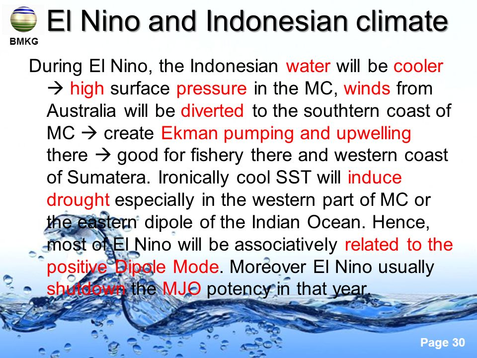 El Nino and Indonesian climate
