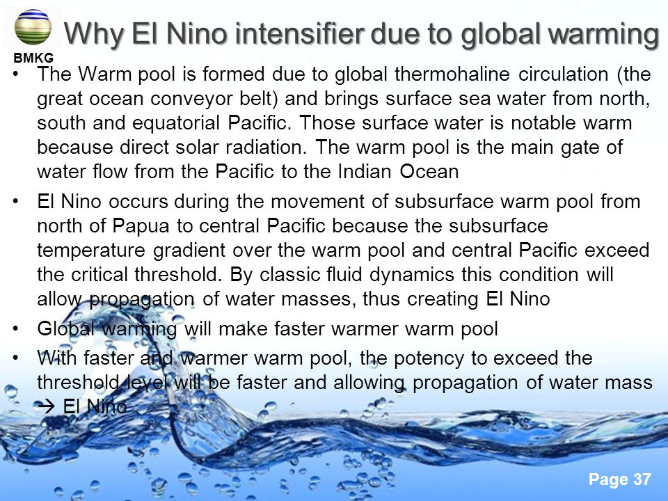 Why El Nino intensifier due to global warming