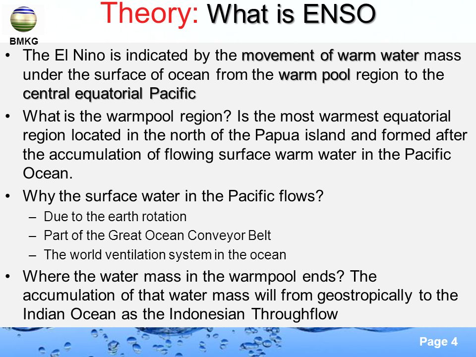 Theory: What is ENSO BMKG.