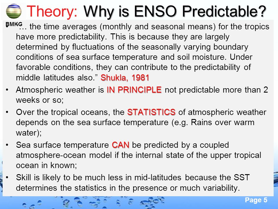 Theory: Why is ENSO Predictable
