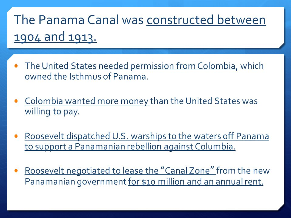 panama canal and effects on america essay Panama: political and economic conditions and us relations congressional research service summary with five successive elected civilian governments, the central american nation of panama has.