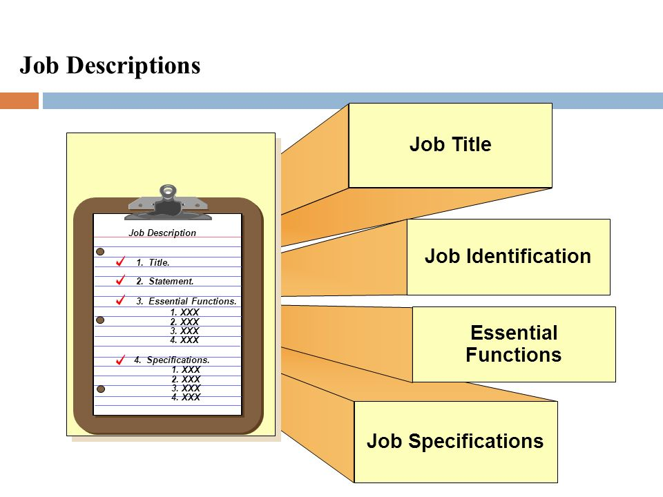 Job Descriptions Job Title Job Identification Essential Functions
