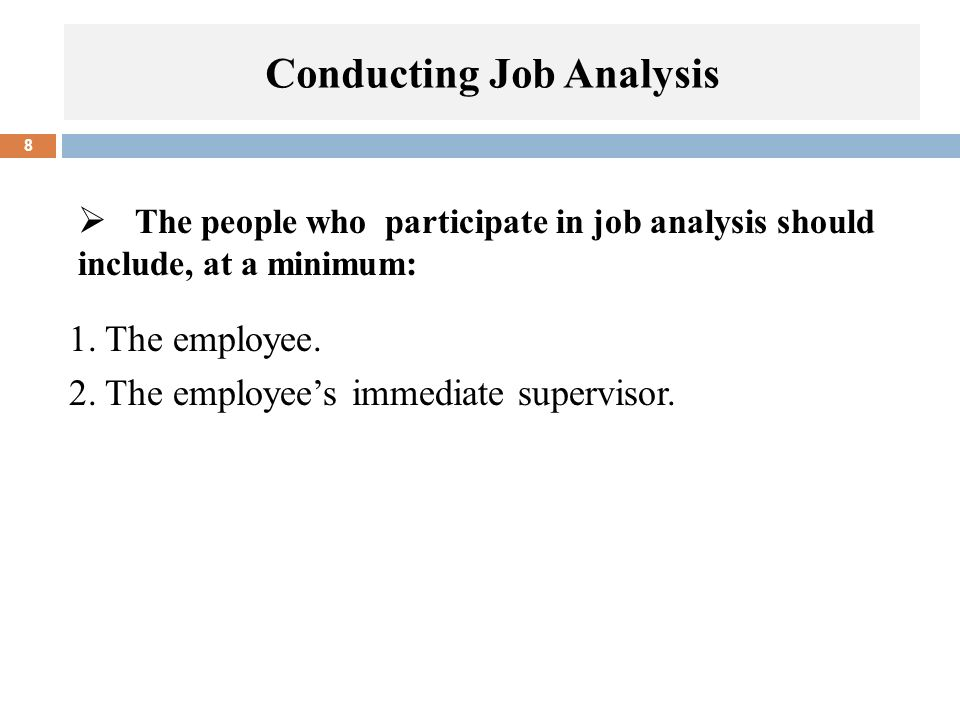 Conducting Job Analysis